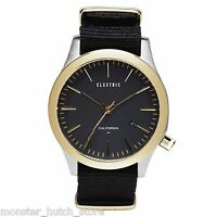 Brand In Box Electric California Fw03 Nat Wrist Watch Black/gold Limited