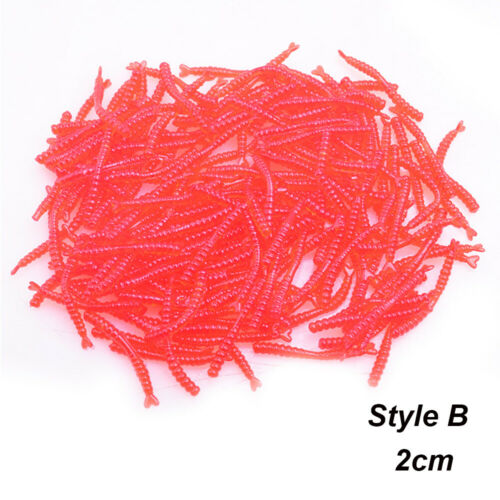 Soft Tackle Fishy Smell Trout Fishing Lure Worm Red Baits EarthWorm bloodworm