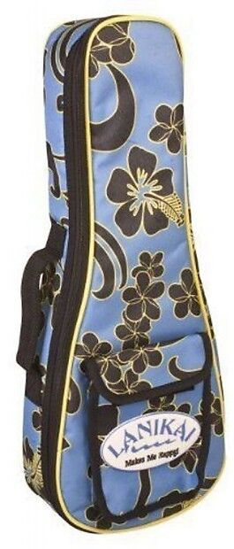 Lanikai FB-T Tenor Ukulele Padded Gig Bag FLORAL Graphic Design Sidekick NEW!