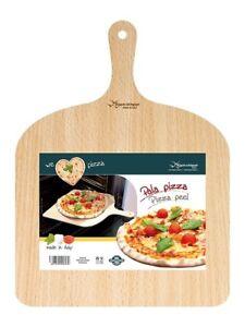 Pala-Tagliere-Vassoio-Per-Pizza-In-Legno-Di-Betulla-30-x-42-Cm-Con-Impugnatura