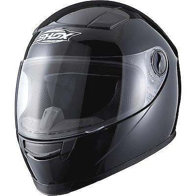Shox Sniper Solid Black Motorcycle Helmet Motorbike Full Face Scooter Crash Bike