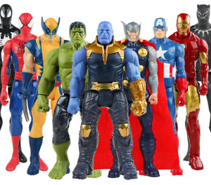 Marvel-Avengers-Toys-Spiderman-Hulk-Iron-Captain-America-Thor-Action-Figure-30CM