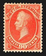 US.#O24 .90c OFFICAIL DEPT. of INTERIOR 1873 - OGPH - F/VF - $225.00  (ESP#6843)