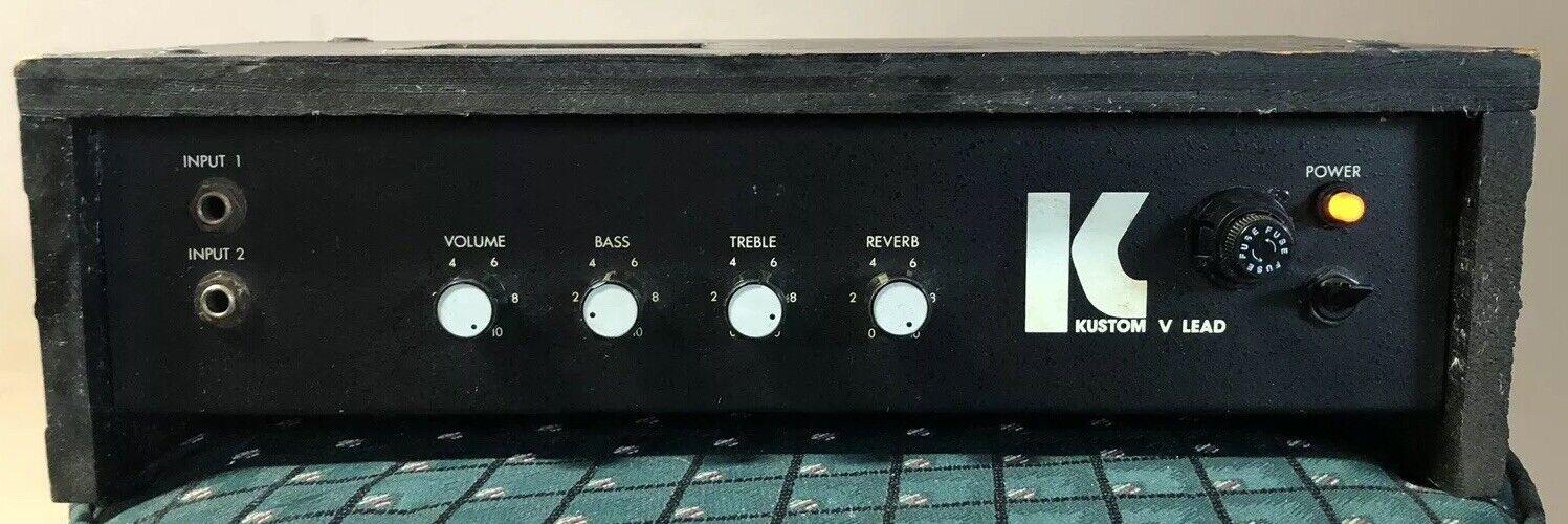 Vtg Kuston V Lead Guitar Head Amplifier 35W Old Works Tested