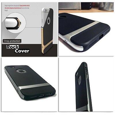 Soleggiato Apple Iphone 8 Custodia Ibrida Flex Rigid Tech Cover Argento Robusto Spedizione Gratuita-