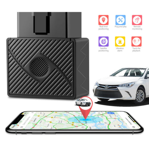 Car OBD 2 GPS Tracker GSM SIM Realtime GPRS Vehicle Tracking Security Device US