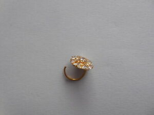 Crystal Nose Stud Cork Nose Pin Indian Wedding Jewelry Bridal Ring