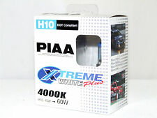 Piaa 4000K 45w=60w XTreme White H10 Halogen Fog Light Bulbs B