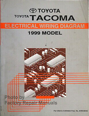 1999 toyota tacoma electrical wiring diagrams original factory manual | ebay  ebay