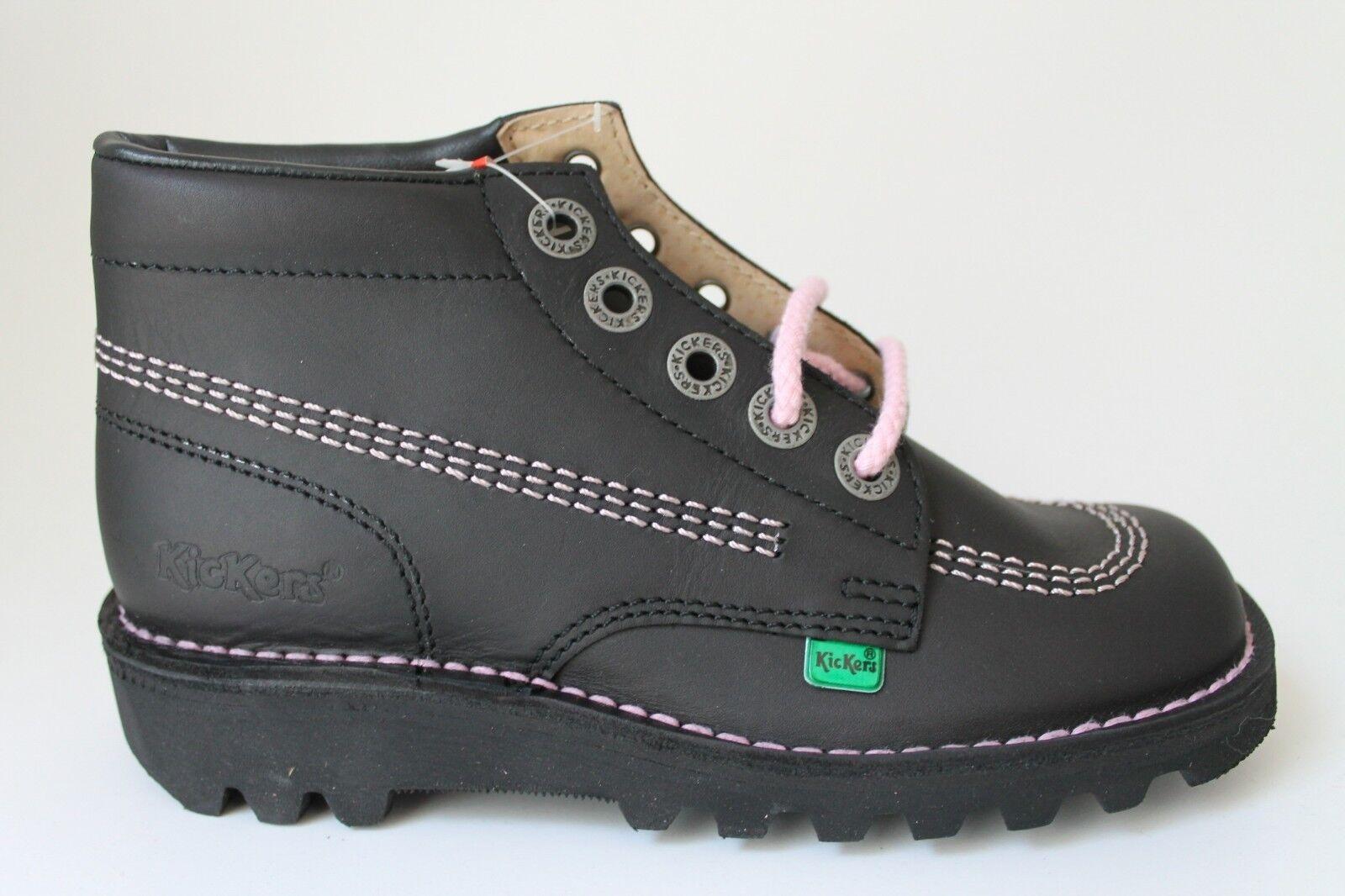 KICKERS KICK HI W CORE BLACK LIGHT PINK Damenschuhe LACE UP BOOTS Schuhe EU36 - EU38