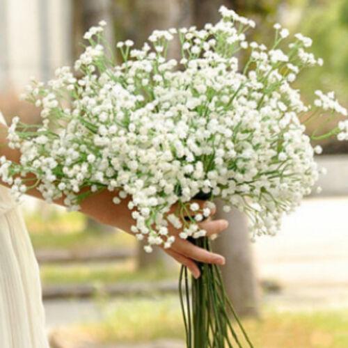 White Fake Silk Artificial Gypsophila Flowers Bouquet Party Home GardenDecor LTT
