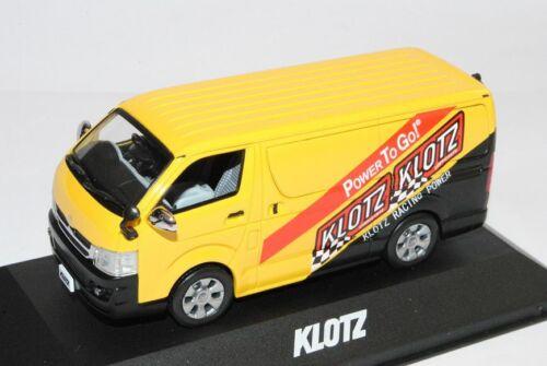 Toyota Hiace Klotz versión negra//amarilla 1//43 J-Collection modelo coche con o o