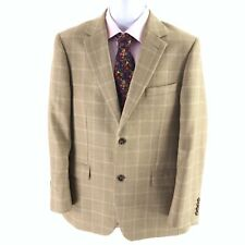 Brook Taverner Mens Navy Henley Classic Wool Blend Patch Pocket Blazer