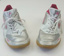 SILVER 9.5 M ADIDAS F5 IN  G61539 WOMEN/'S INDOOR SOCCER SHOES PINK