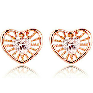Small 7mm flower shaped rose gold girls stud earrings quality jewellery UK boxed