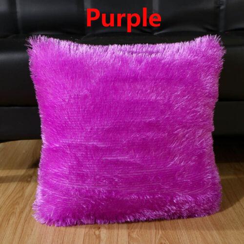 Siège Home Decor taille coussin couverture hiver chaud fourrure peluche Throw Pillow Cases