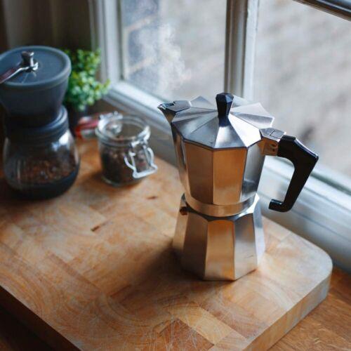 Moka Pot Italian Coffee Maker Percolator Espresso 3-Cup