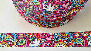 Peace-Doves-printed-grosgrain-ribbon-22mm-2-METRES