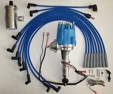 Small Cap FORD FE 352-390-427-428 BLUE HEI Distributor +45K Coil+Spark Plug Wire
