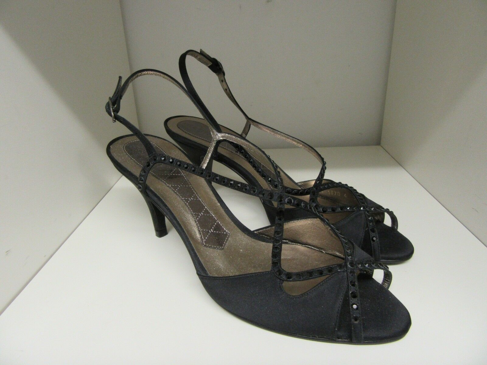 MAGRIT BLACK EVENING Schuhe SLINGBACK CRUISE BALL PARTY SIZE SIZE PARTY 39 - 6 BRAND NEW e7a697