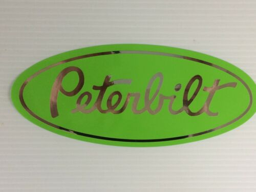 message for other colors 3 Peterbilt Grille Hood Decal chrome /& Lime Green