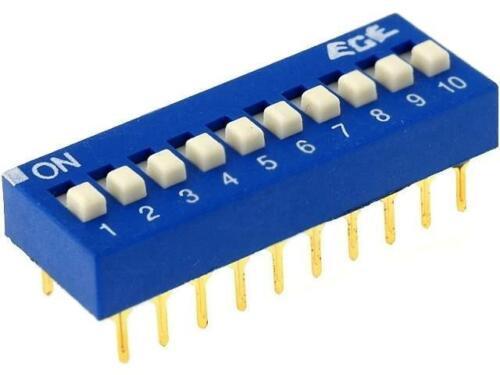 Edg110s interruptor DIP-Switch número secciones 10 on-off 0,1a/24vdc