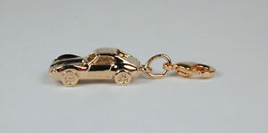 Gold-Plated-Sterling-Silver-Corvette-Stingray-Charm-Free-U-S-Shipping