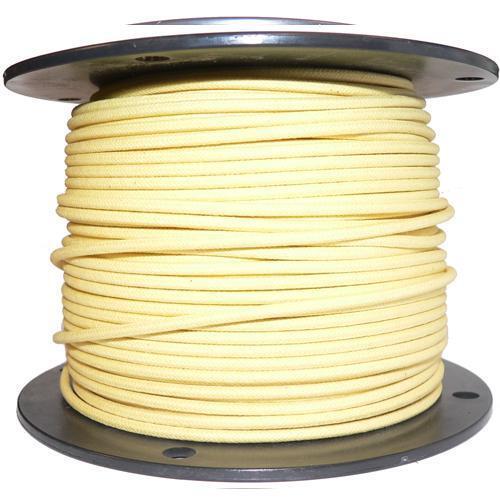 1M Baumwolle Geflochten Automobil Elektrisch Kabel 16er Stärke Gelb