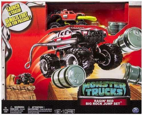 Monster Trucks Movie Ragin Red Big Rock Jump Set Launch Crash Spin Master For Sale Online Ebay