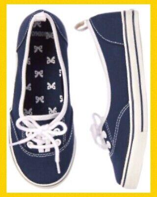 NWT Gymboree UNIFORM SHOP Girls navy Blue Sneakers Shoes School many sizes