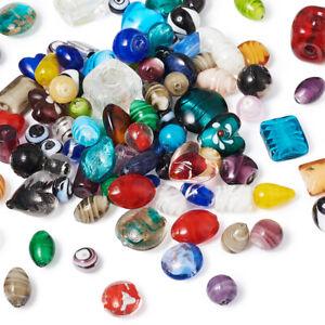 500g-bag-Mixed-Handmade-Lampwork-Perles-De-Verre-A-faire-soi-meme-Jewelry-Making