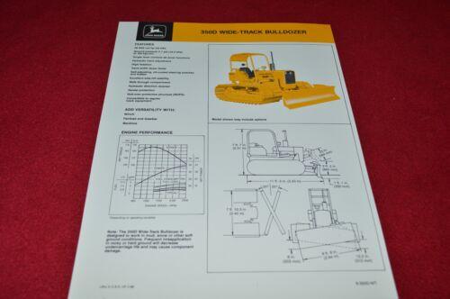 John Deere 350D Crawler Tractor Wide Track Bulldozer Dealer/'s Brochure YABE14
