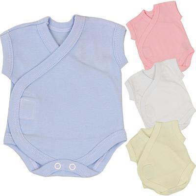 Babyprem Vorzeitige Winzig Babykleidung Weiß Strampler Overall Preemie 1.4kg
