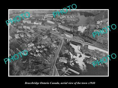Other Historical Memorabilia Aerial View Of Town C1940 2 Curing Cough And Facilitating Expectoration And Relieving Hoarseness Objective Old Large Historic Photo Bracebridge Ontario Canada