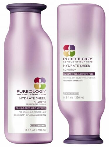 PUREOLOGY HYDRATE SHEER SHAMPOO 250 ML AND CONDITIONER 250 ML DUO