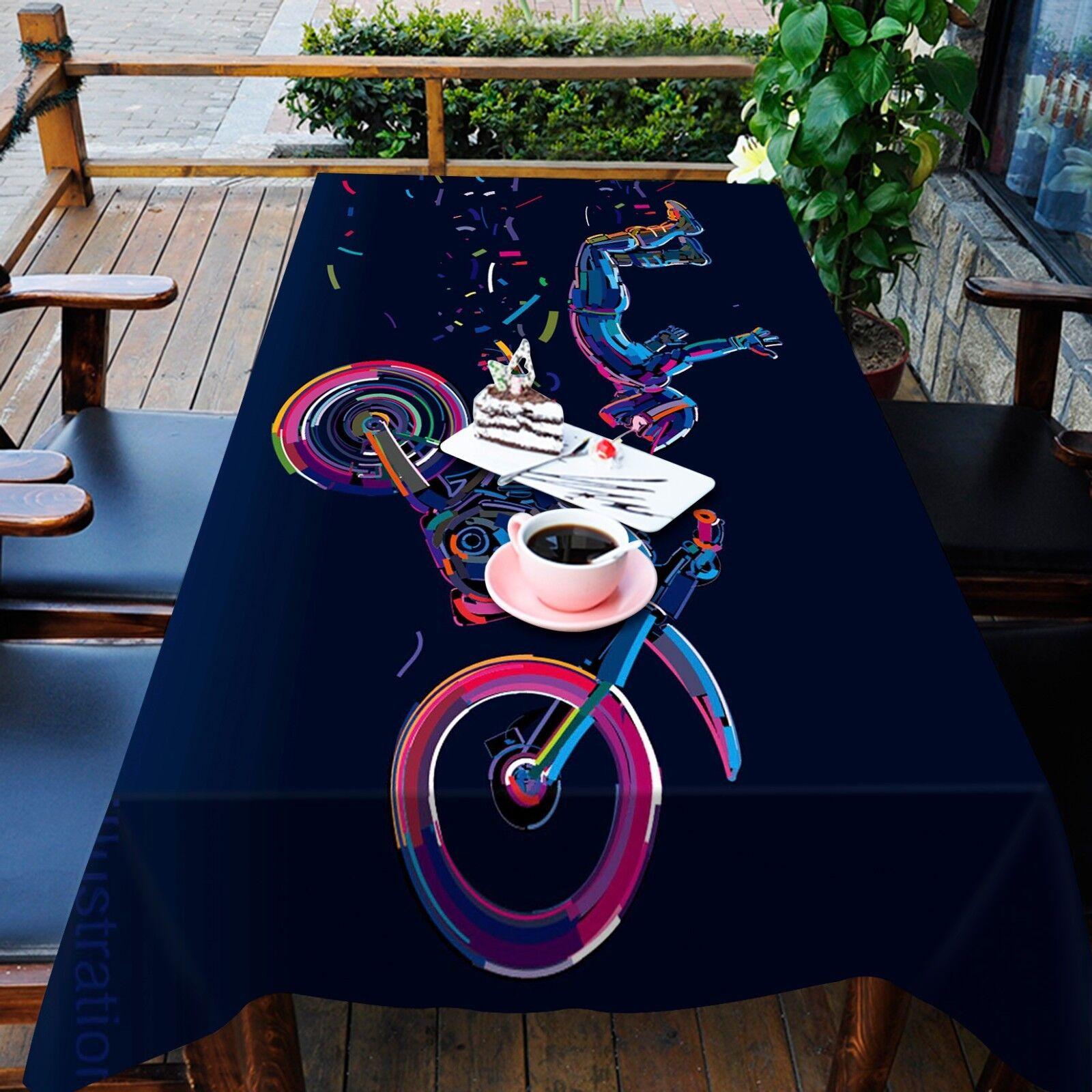 3D Moto 7 Nappe Table Cover Cloth Fête D'Anniversaire événement AJ papier peint UK