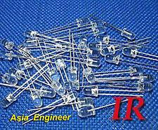 Lot Of 200 X 5mm Ir Infrared Led 940nm Free Resistors