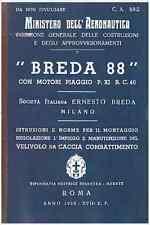 BREDA 88 LINCE 1939 CA508 AIRCRAFT AVIAZIONE REGIA AERONAUTICA Manual - DVD