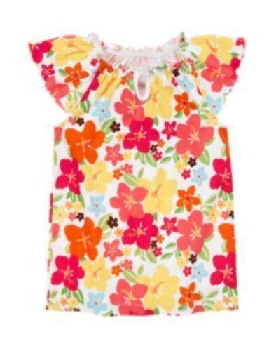 NWT Gymboree Girls Aloha Sunshine Floral Print Top Size 3 4 5 /& 6