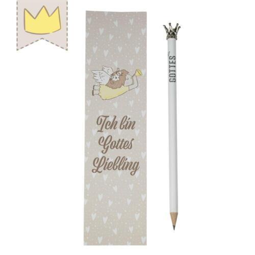 Gottes Liebling Kronen-Bleistift mit Lesezeichen