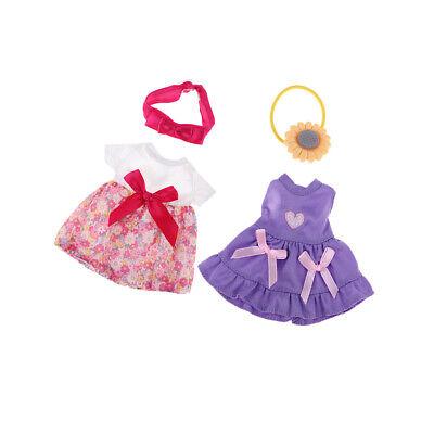 25cm Lovely Striped Dress for Mellchan Dolls Girl Dolls Clothing Accs Purple