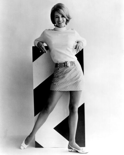 Point Blank Angie Dickinson full length in sweater and mini skirt 8x10 Photo