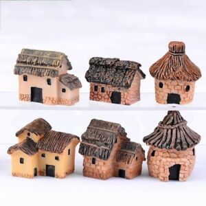 Resin-Small-Thatched-House-Hut-Fish-Tank-Aquarium-Ornament-Home-Decoration-NEW