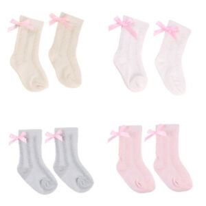 Girl-039-s-Fashion-Knitted-Lace-Toddler-Socks-Knee-High-Bowknot-Baby-Socks-Cotton