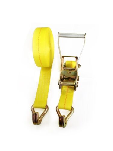 "Seculok 2/"" X 27/' Heavy Duty Ratchet Tie-down Strap with Double J Hooks,10,000..."