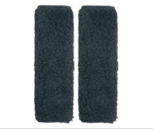 1 pair of Simulated Sheepskin Seat Belt Shoulder Pads Black