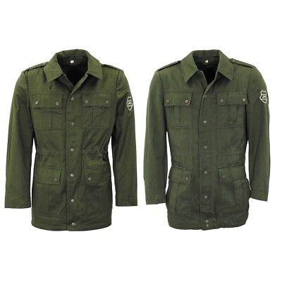 ARMY JACKET MEN GREEN FIELD COAT MILITARY OLIVE | eBay