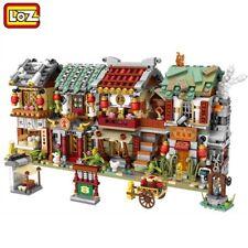 LOZ Mini City Shoppingstreet Street mini Set Teile Lego Klemmbausteine Spielzeug