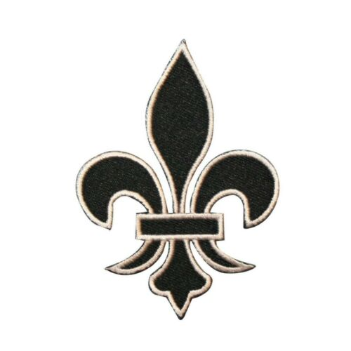 ID 3392 Fleur-De-Lis Symbol Patch French Flower Embroidered Iron On Applique