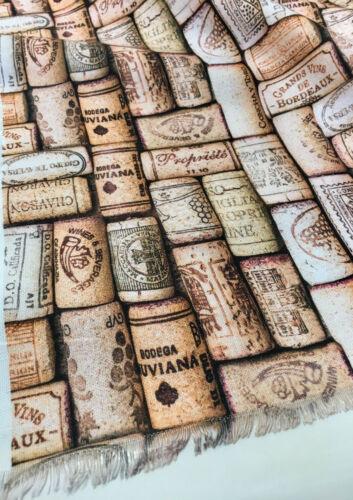 Vino Tapones de Corcho Impresión Digital Tejido Cortina Material Botella Corcho